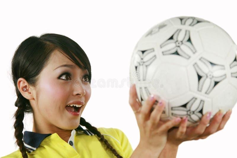 De ventilator van het voetbal stock afbeelding
