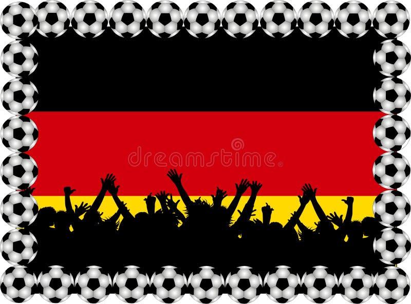 De ventilators Duitsland van het voetbal vector illustratie