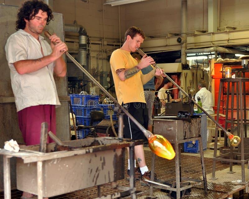 De ventilators van het glas op het werk royalty-vrije stock afbeeldingen