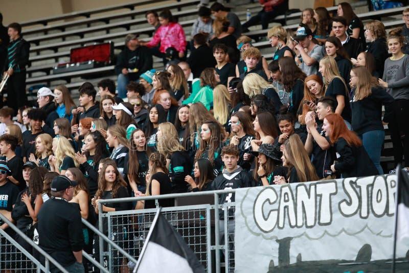 De Ventilators van de middelbare schoolvoetbal stock afbeelding