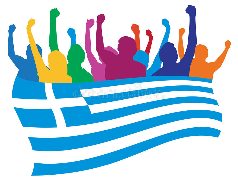 De ventilatorsillustratie van Griekenland royalty-vrije illustratie