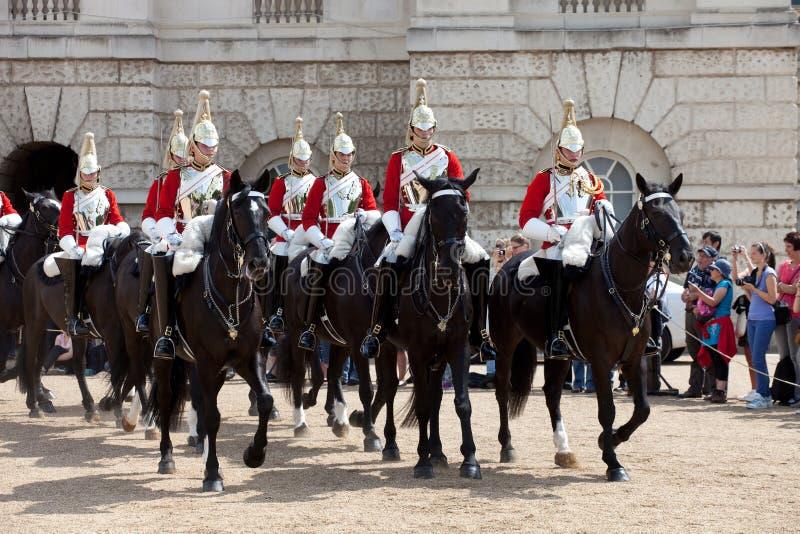 De veranderende Ceremonie van de Wacht van het Paard stock afbeeldingen
