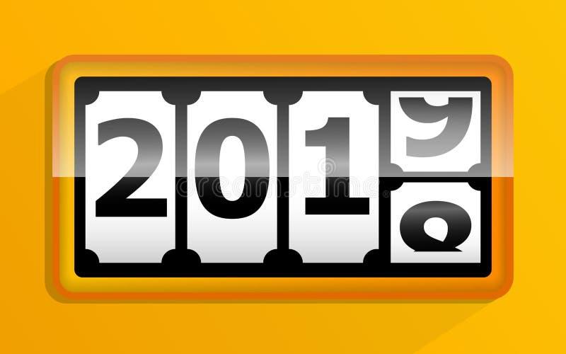de verandering van 2018 in de kalender van 2019 stock illustratie