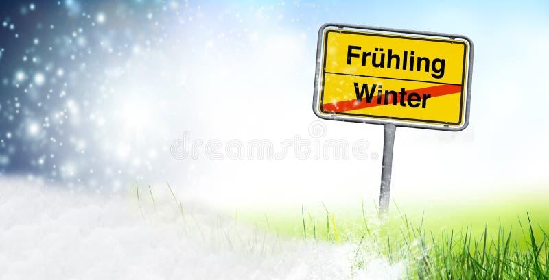 De verandering van de de winterlente vector illustratie