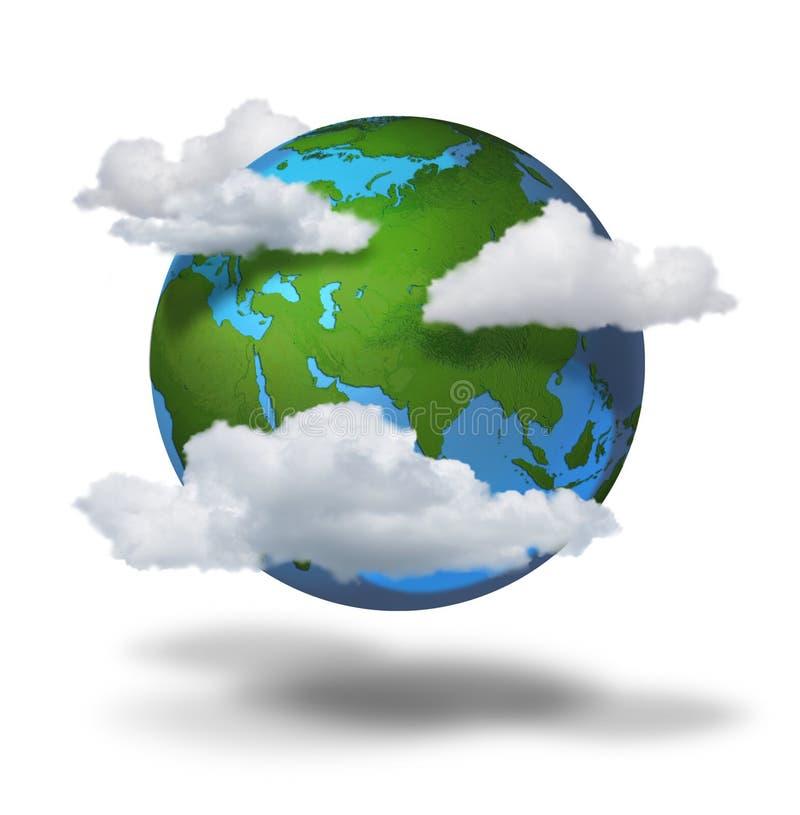 De veranderingsconcept van het klimaat royalty-vrije illustratie