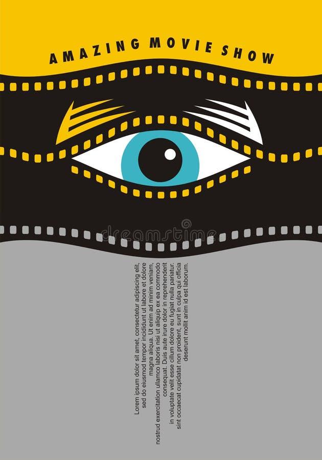 De verbazende film toont het idee van het afficheontwerp royalty-vrije illustratie