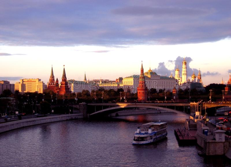 De verbazende mening van Moskou stock foto