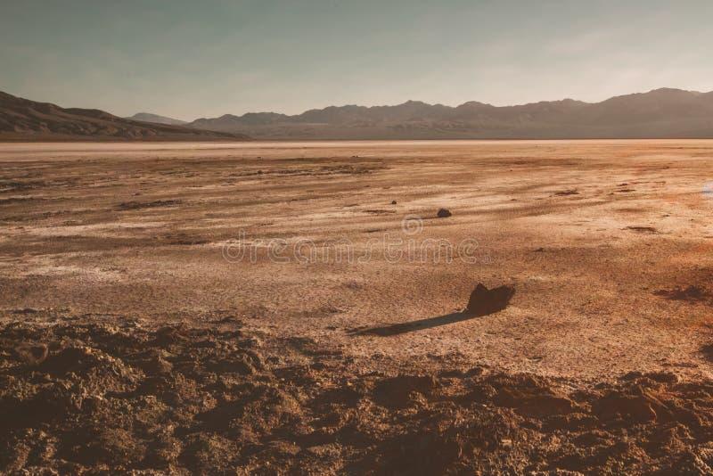 De verbazende woestijnmening van Doodsvallei stock foto's