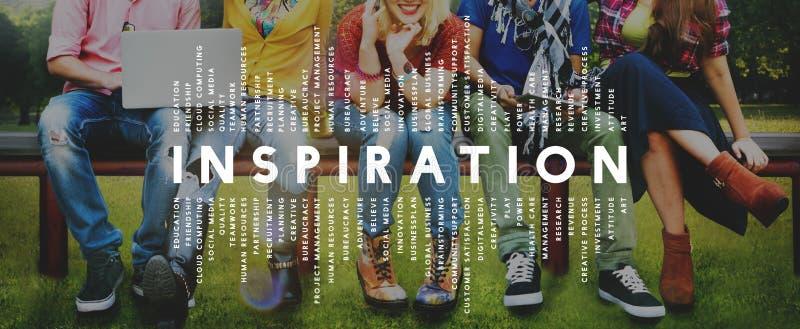 De Verbeelding van de inspiratieaspiratie inspireert Droomconcept royalty-vrije stock afbeelding