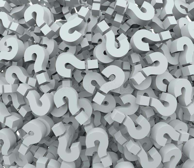De Verbeelding van vraagmark background quiz test learning stock illustratie