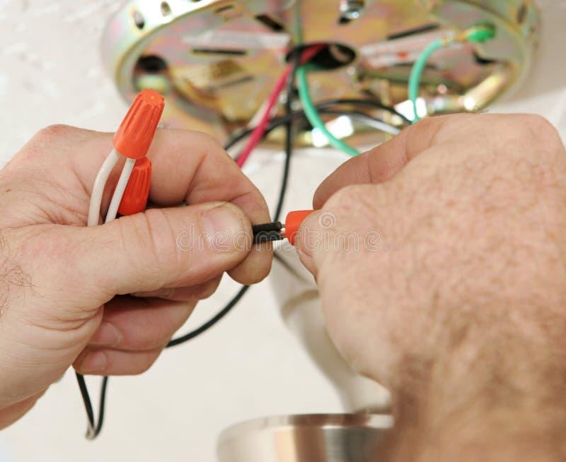 De Verbindende Draden van de elektricien stock foto's