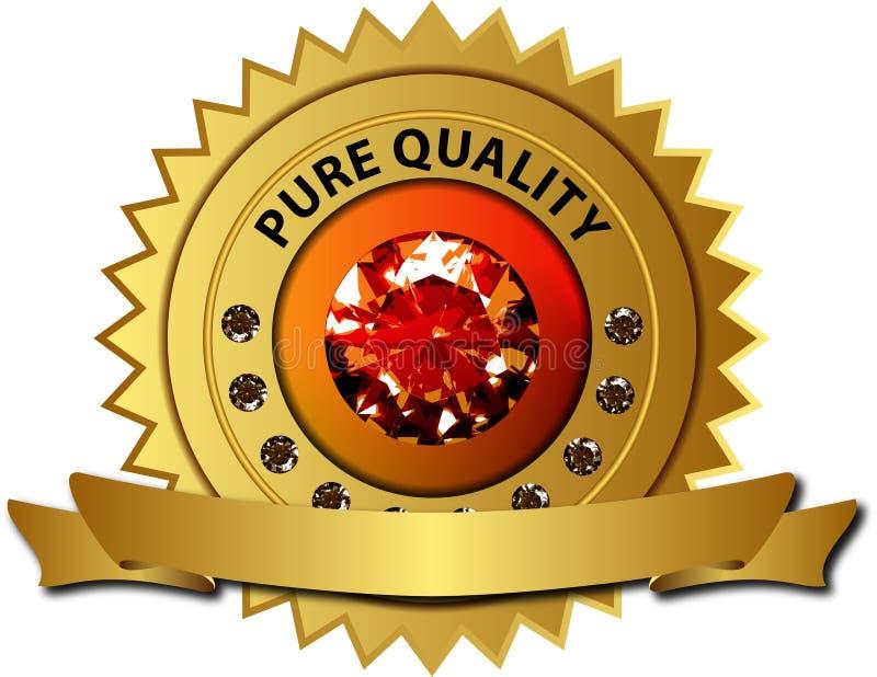 De verbinding van de kwaliteit met diamanten en banner vector illustratie