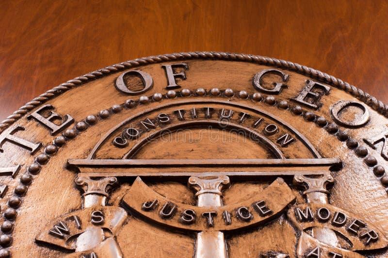 De Verbinding van de Staat van Georgië stock afbeelding