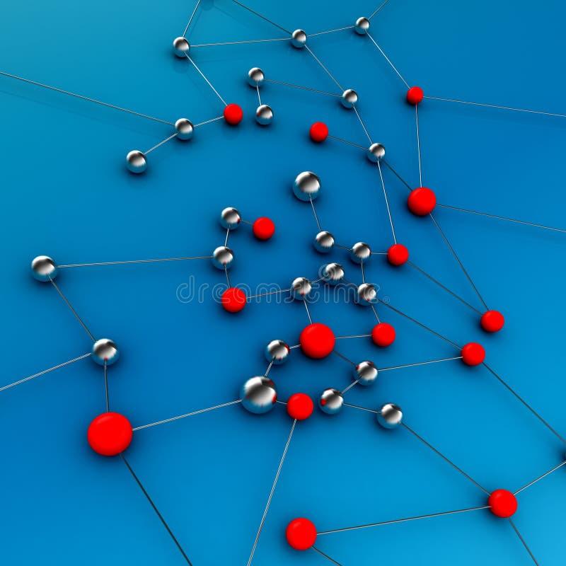 De verbinding van het netwerk royalty-vrije illustratie