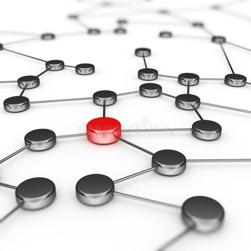 De verbinding van het netwerk vector illustratie
