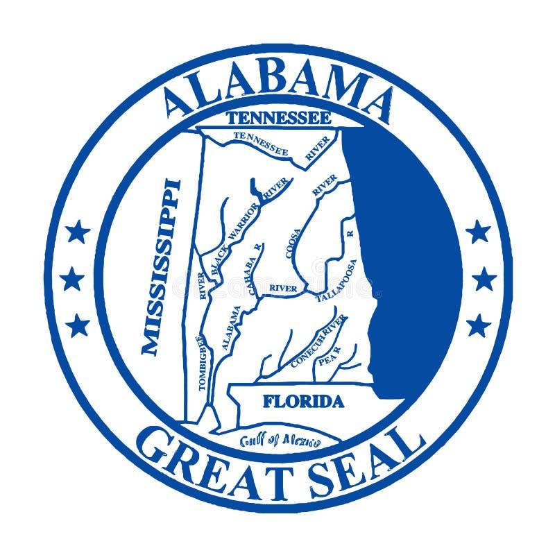 De Verbinding van de Staat van Alabama vector illustratie