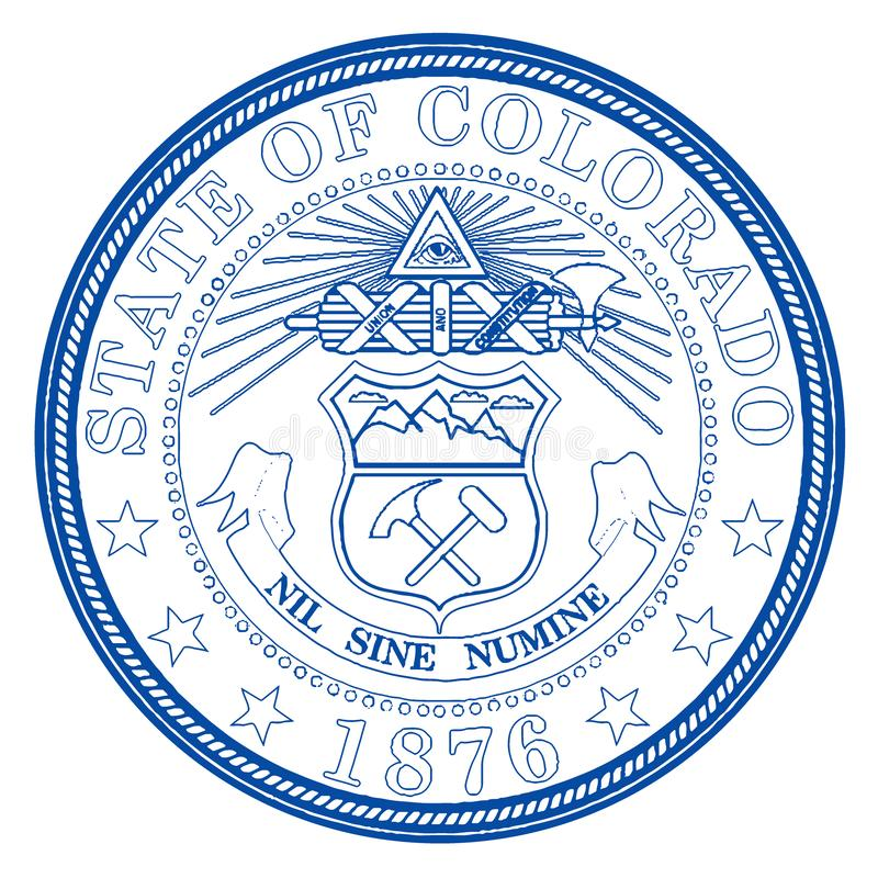 De Verbinding van de Staat van Colorado stock illustratie