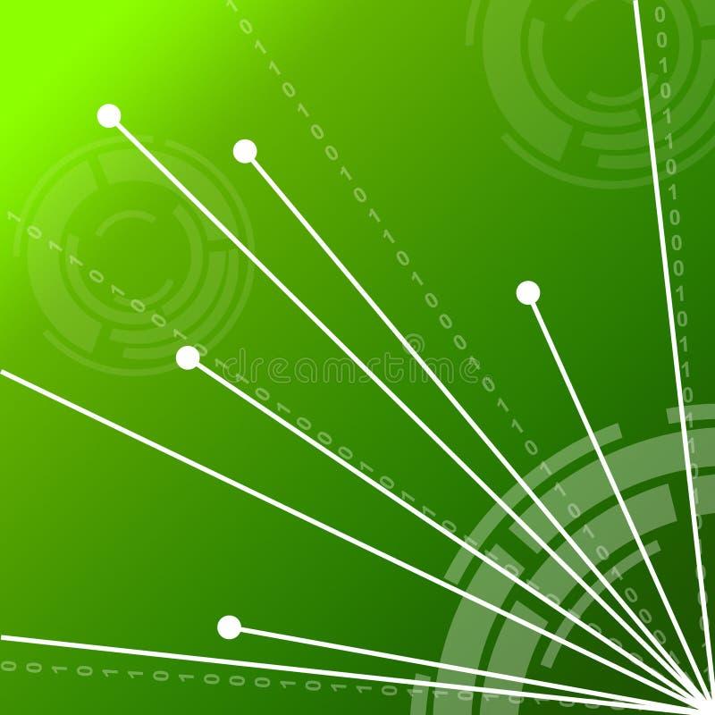 De verbinding verbindt Achtergrond toont verbind royalty-vrije illustratie