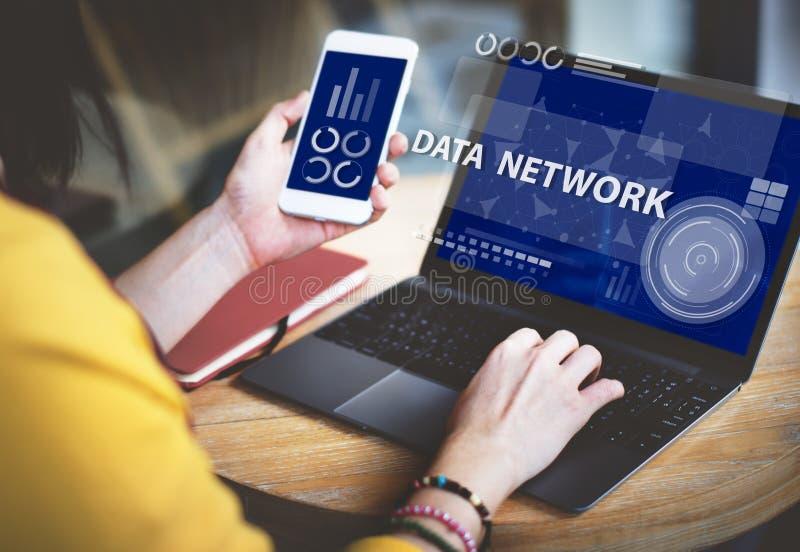 De Verbindings Digitaal Concept van Internet van het computernetwerk stock fotografie