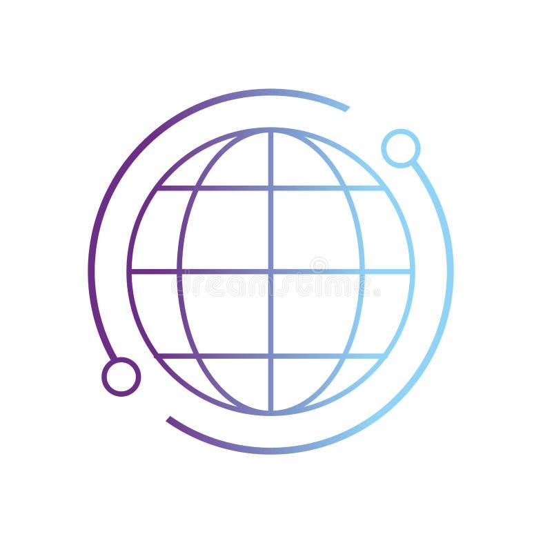 De verbindings digitale technologie van de lijn globale kaart royalty-vrije illustratie