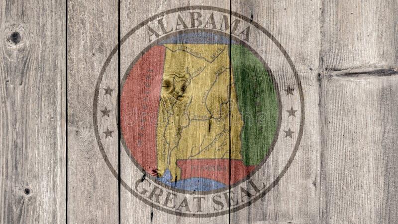 De Verbindings Houten Omheining van Alabama van de Staat van de V.S. stock illustratie