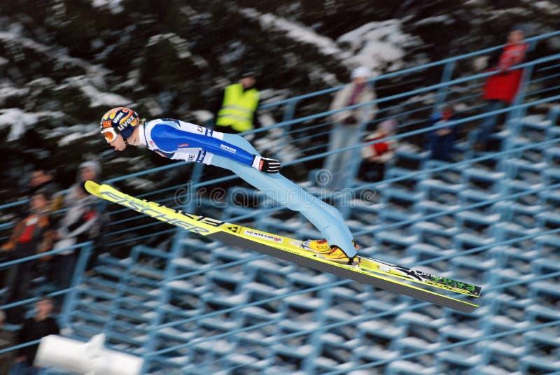 De verbindingsdraad van de ski stock foto's