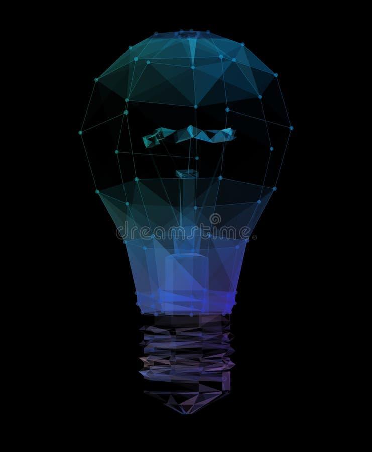 De verbindingsnetwerk van de boltechnologie, creatief ideeconcept 3D Illustratie vector illustratie