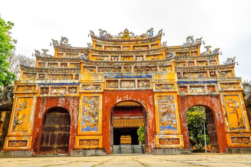 De Verboden Stad bij Tint, Vietnam royalty-vrije stock afbeeldingen