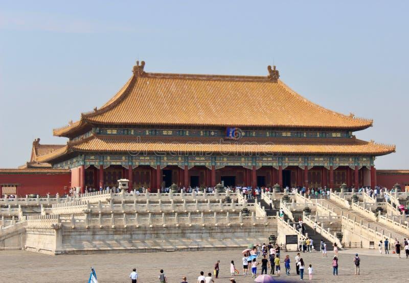 De verboden stad, Peking, China royalty-vrije stock foto