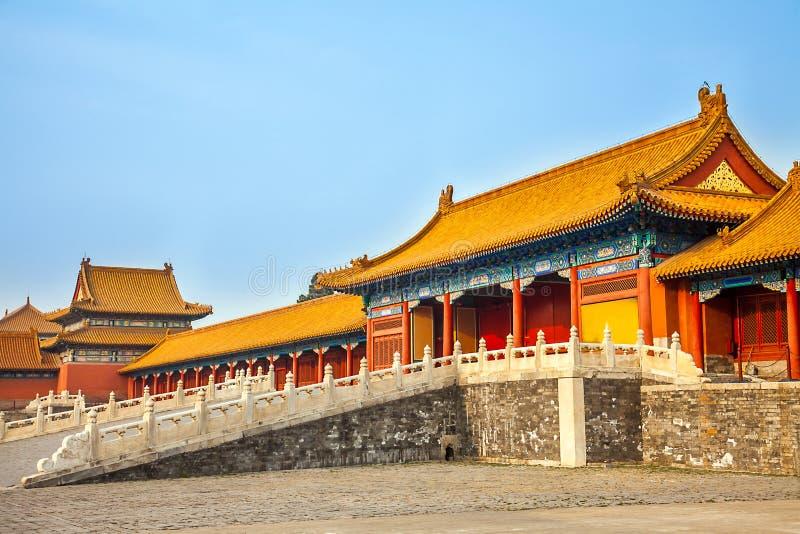 In de Verboden Stad in Peking China stock foto's