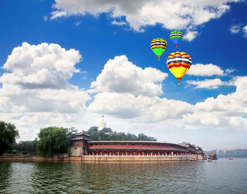 De verboden Stad Peking van het Park Beihai dichtbij royalty-vrije stock afbeeldingen