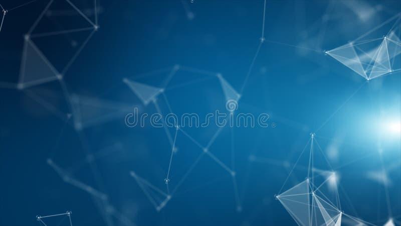 De verbonden Achtergrond van Digitaal Netwerkinternet vector illustratie