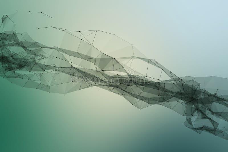 de verbonden punten en de lijnen vormen een reusachtige riem stock illustratie