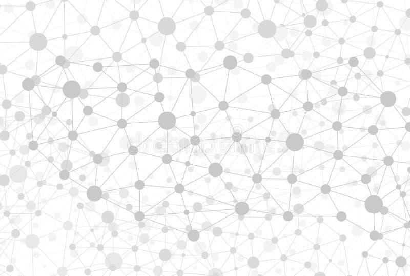 De verbonden verbindingen en de knopen van Open Data in een netwerk van kennis royalty-vrije illustratie