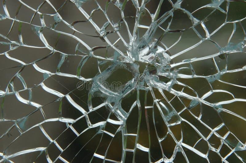 De verbrijzelde Ruit van het Glas royalty-vrije stock foto's
