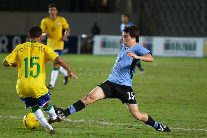 De verdediger van Uruguay royalty-vrije stock afbeelding