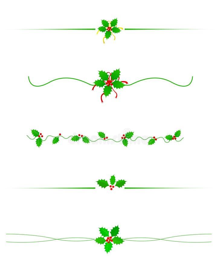 De verdeler van de Grens van Kerstmis stock illustratie