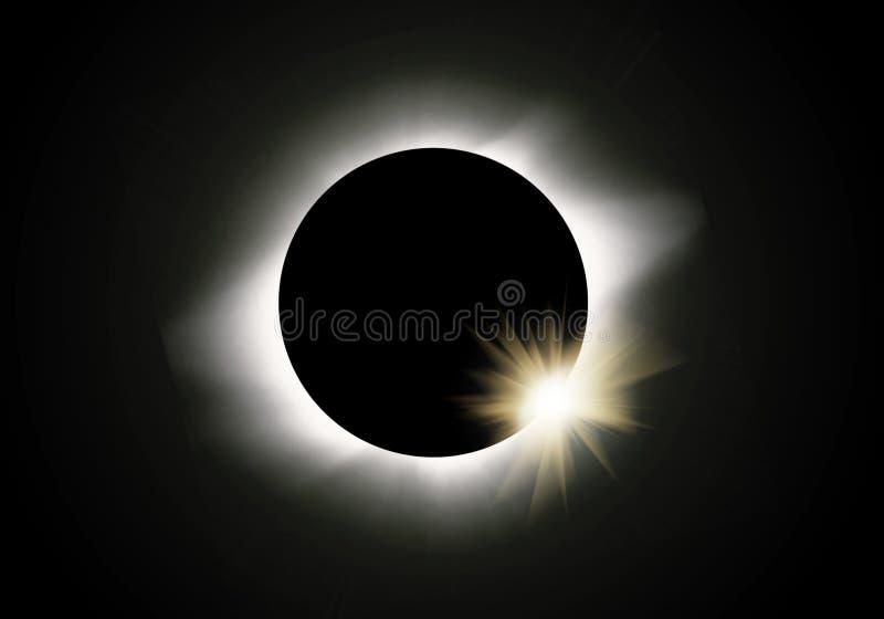 De verduistering van de zon stock illustratie