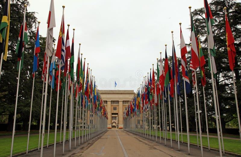 De Verenigde Naties, Genève, Zwitserland. royalty-vrije stock foto's