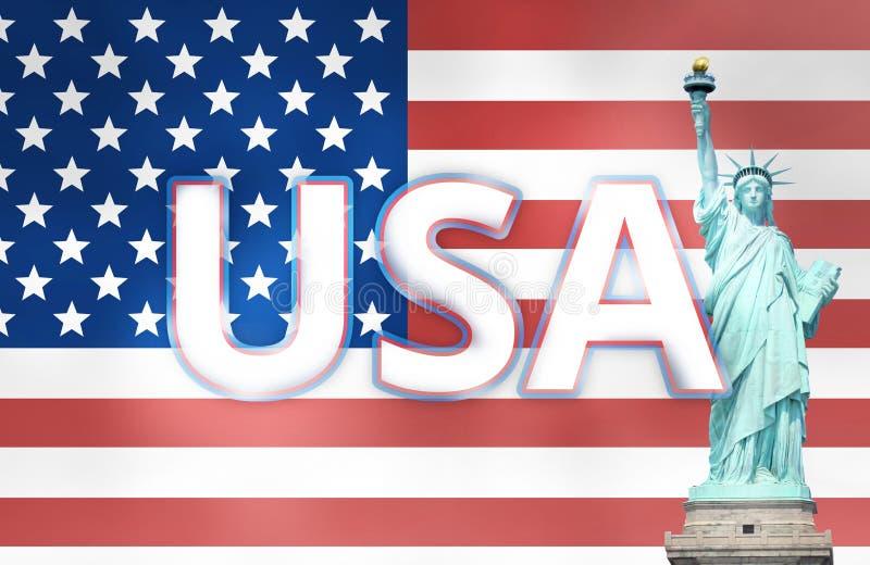 De Verenigde Staten van Amerika stock illustratie