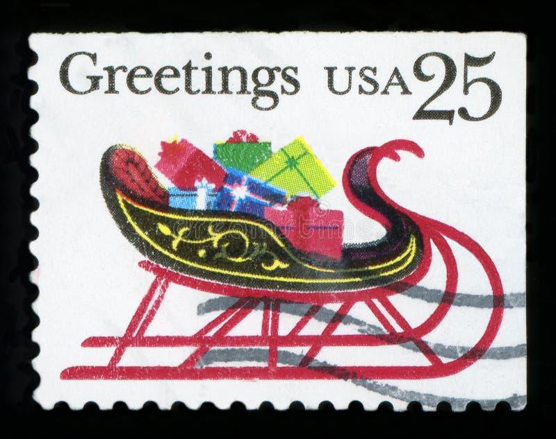 DE VERENIGDE STATEN VAN AMERIKA - Postgezegel royalty-vrije stock fotografie