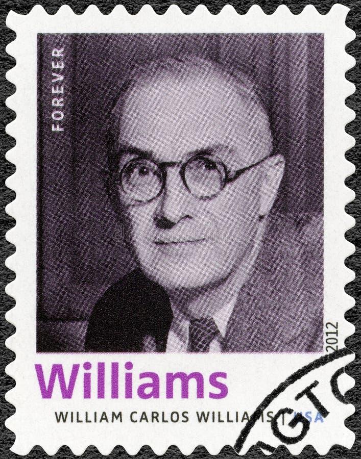 DE VERENIGDE STATEN VAN AMERIKA - 2012: toont William Carlos Williams 1883-1963, Amerikaanse dichter, auteur, de Laureaat van ree royalty-vrije stock afbeeldingen
