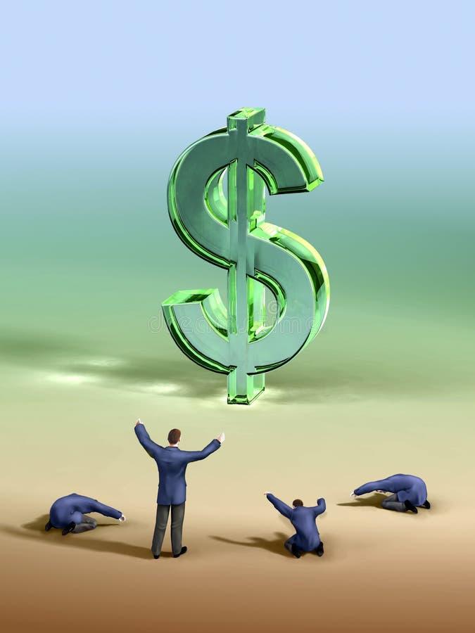 De verering van de dollar royalty-vrije illustratie