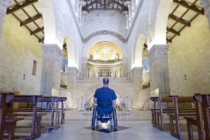De Verering van de Kerk van de rolstoel stock foto's