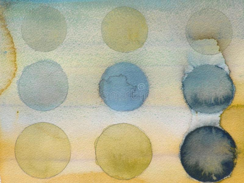 De verf abstracte van Grunge cirkels als achtergrond royalty-vrije illustratie
