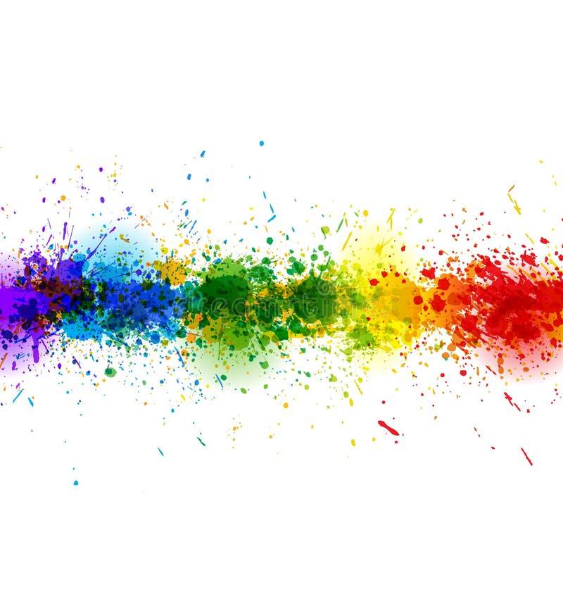 De verf bespat achtergrond Vectordiebanner van heldere vlekken wordt gemaakt Kleurrijke affiche royalty-vrije illustratie