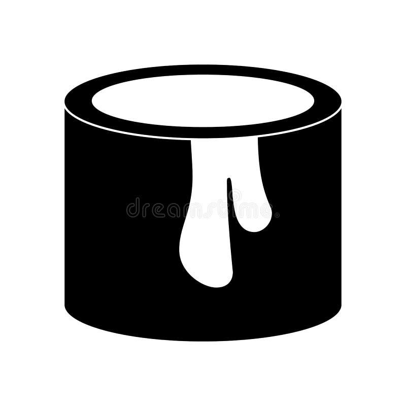 De verf kan eenvoudig pictogram vector illustratie