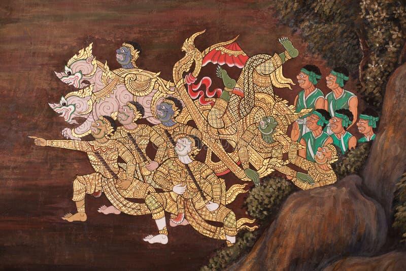 De verf Thai van het patroon royalty-vrije stock afbeelding