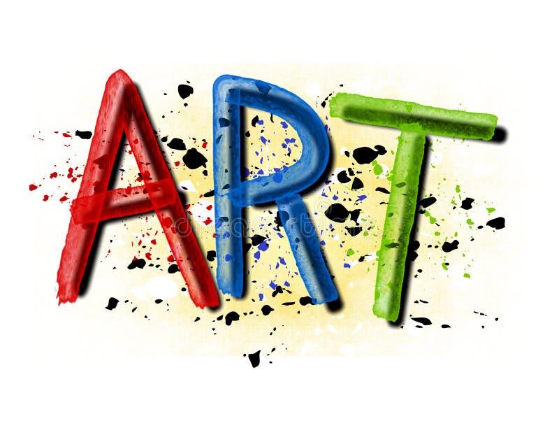 De Verf van Grunge ploetert het Embleem van de Kunst royalty-vrije illustratie