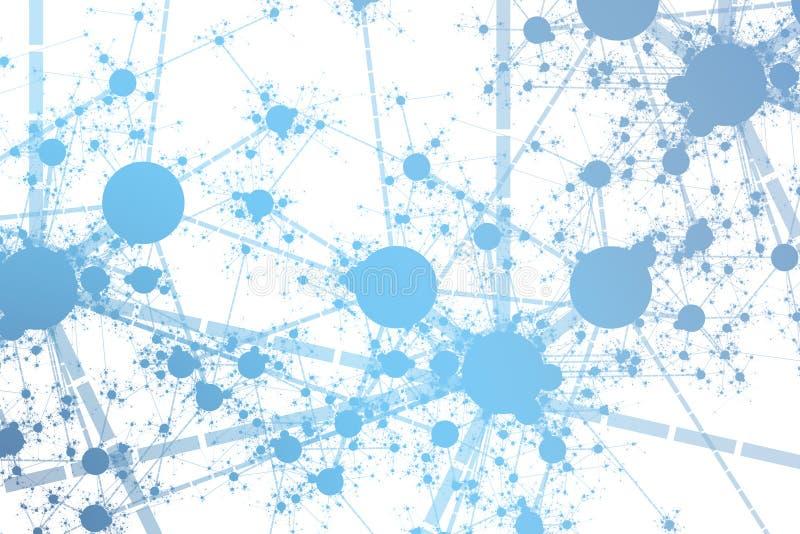 De Verf van het netwerk ploetert stock illustratie
